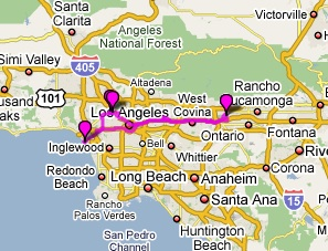 Out West Day Hollywood And Venice Beach Mellink Family - Venice beach map